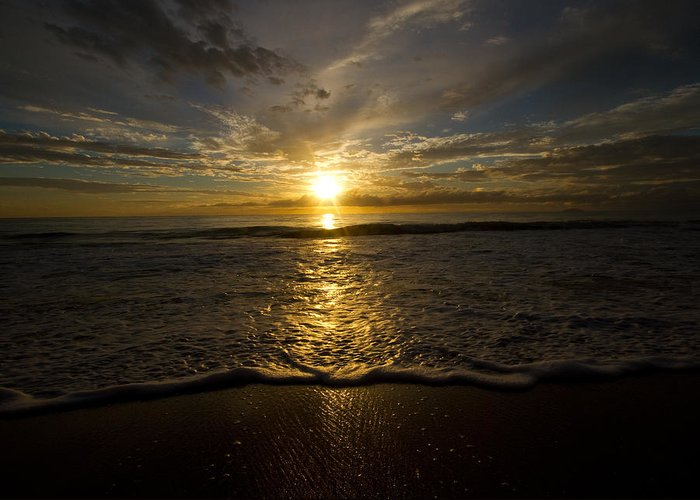 Puerto Rico Greeting Card featuring the photograph Puerto Rican Sunset II by Tim Fitzwater