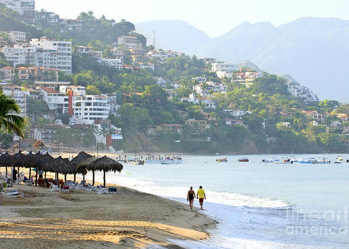 Beach Greeting Card featuring the photograph Puerto Vallarta Beach by Elena Elisseeva