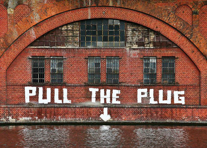 Berlin Greeting Card featuring the photograph Pull The Plug by Aurica Voss