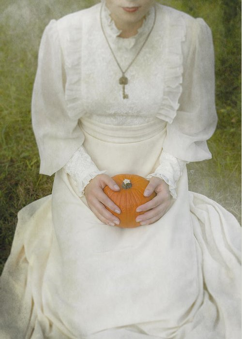 Woman Greeting Card featuring the photograph Pumpkin by Joana Kruse