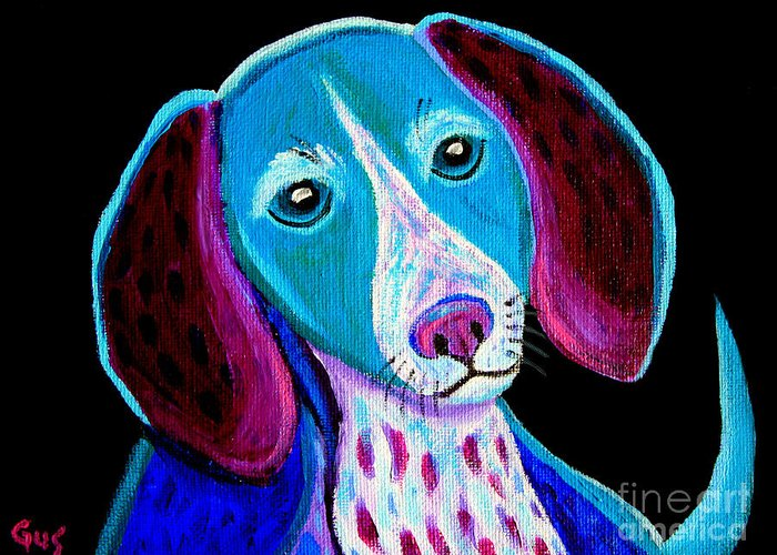 Puppy Greeting Card featuring the painting Puppy Love by Nick Gustafson