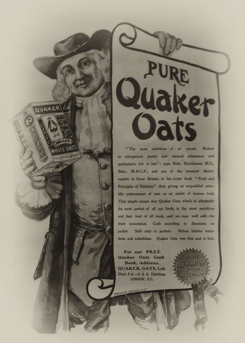 Quaker Oates Greeting Cards