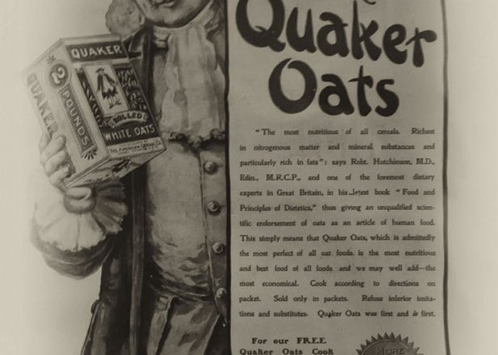Pure Quaker Oates Greeting Card featuring the photograph Pure Quaker Oates by Bill Cannon
