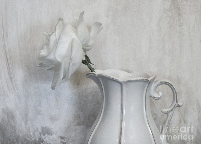 Photo Greeting Card featuring the photograph Pure White by Marsha Heiken
