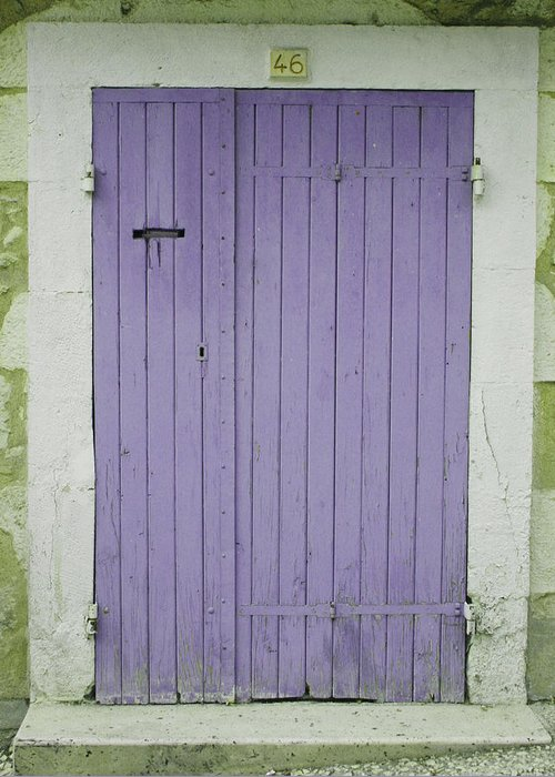 Purple Door Greeting Card featuring the photograph Purple Door Number 46 by Georgia Fowler
