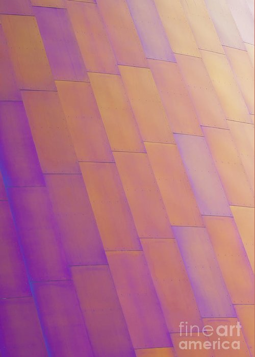 Purple Greeting Card featuring the photograph Purple Orange Two by Chris Dutton