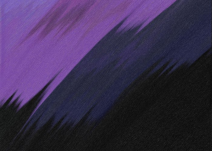 Digital Greeting Card featuring the painting Purple Sunrise by Lance Kelly