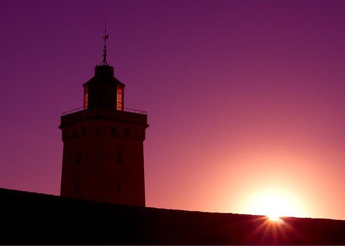 Atlantik Greeting Card featuring the photograph Purple Sunset by Thomas Splietker