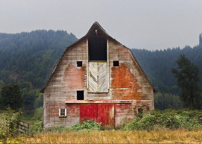 Barn Greeting Card featuring the photograph Put On A Happy Face by Debra and Dave Vanderlaan