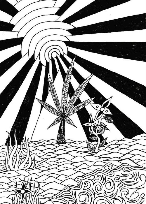 Drawing Greeting Card featuring the drawing Pyramid by Andrew Padula