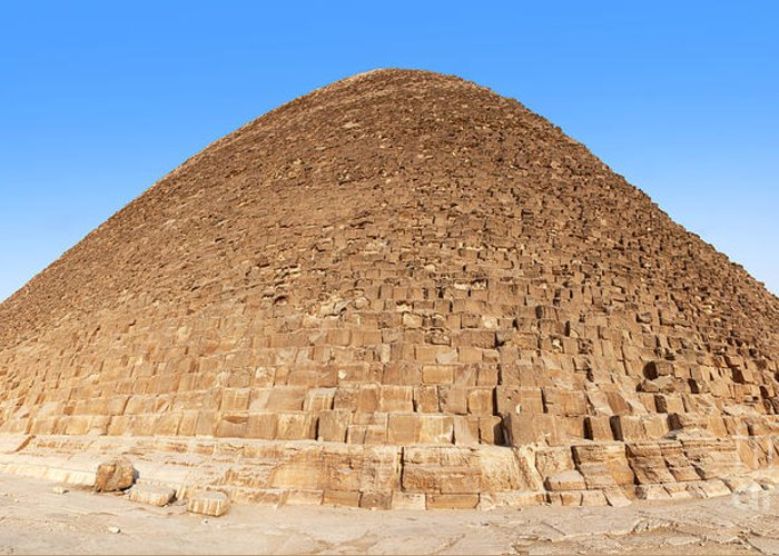 Africa Greeting Card featuring the photograph Pyramid Giza. by Jane Rix
