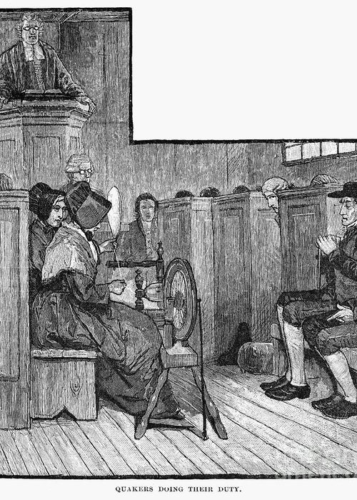 19th Century Greeting Card featuring the photograph Quaker Meeting by Granger