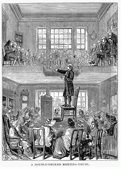 19th Century Greeting Card featuring the photograph Quaker Meeting House by Granger