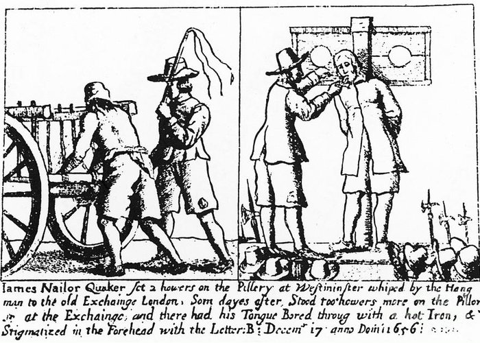 1656 Greeting Card featuring the photograph Quaker Persecution by Granger
