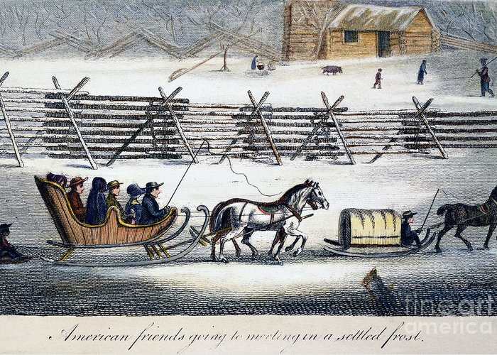 1811 Greeting Card featuring the photograph Quakers by Granger