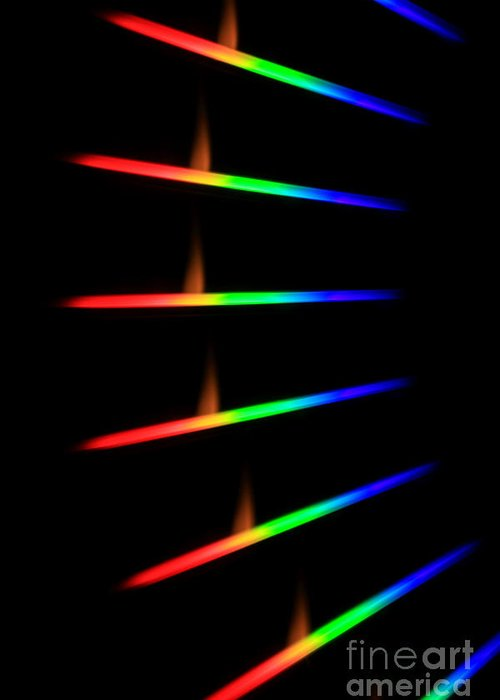 Science Greeting Card featuring the photograph Quicklime Spectra Limelight by Ted Kinsman
