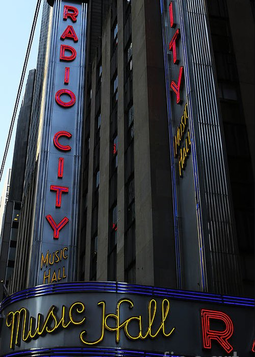 Lee Dos Santos Greeting Card featuring the photograph Radio City Music Hall Cirque Du Soleil by Lee Dos Santos
