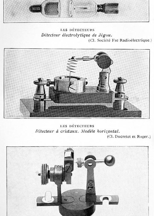 Equipment Greeting Card featuring the photograph Radio Receiver Components, 1914 by