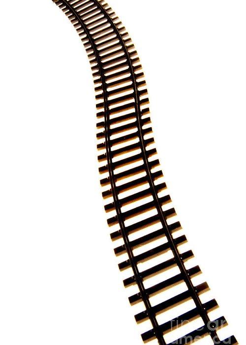 Ways Greeting Card featuring the photograph Railway Tracks by Bernard Jaubert