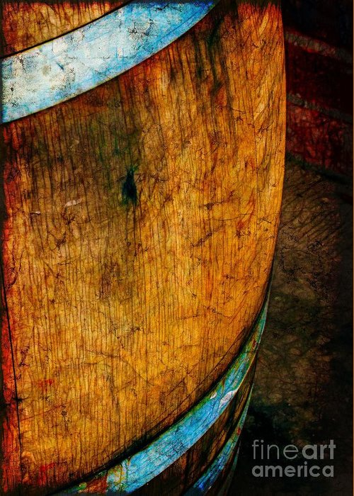 Vintage Greeting Card featuring the photograph Rain Barrel by Judi Bagwell