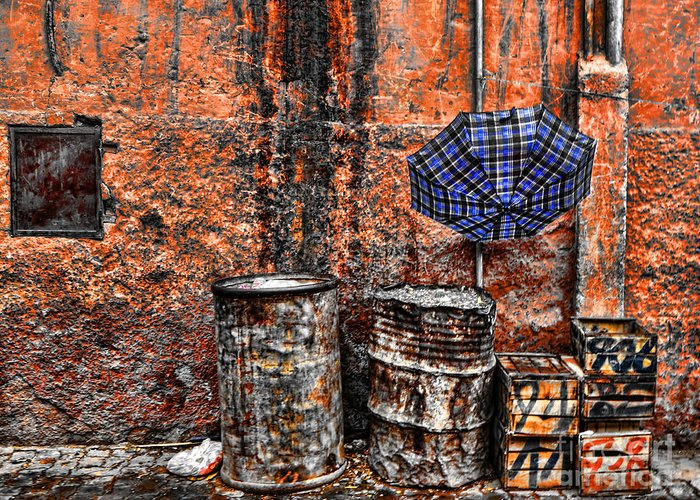 Morocco Greeting Card featuring the photograph Rain In Marrakesh by Chuck Kuhn