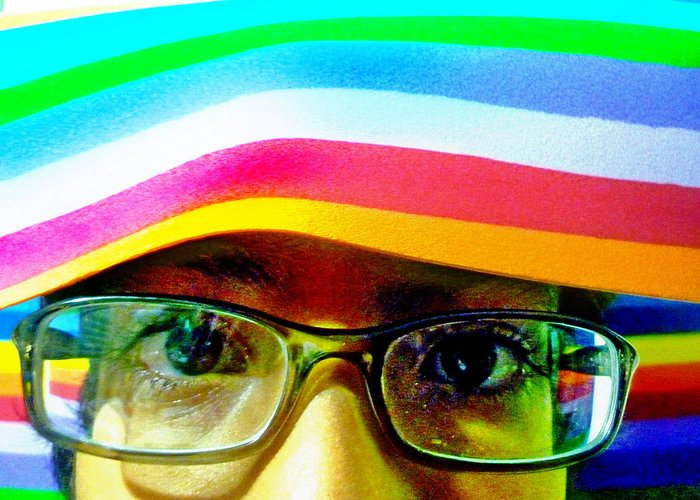 Face Greeting Card featuring the photograph Rainbow Mind by Beto Machado