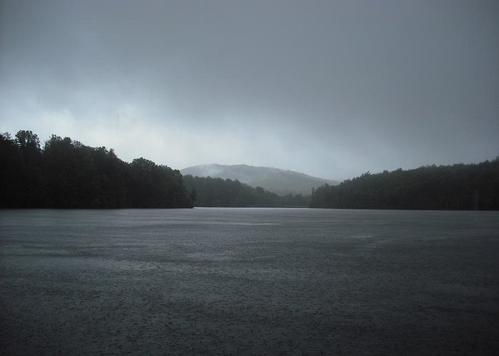 Lake Greeting Card featuring the photograph Rainy Day At Price Lake by Jennifer Eddiba