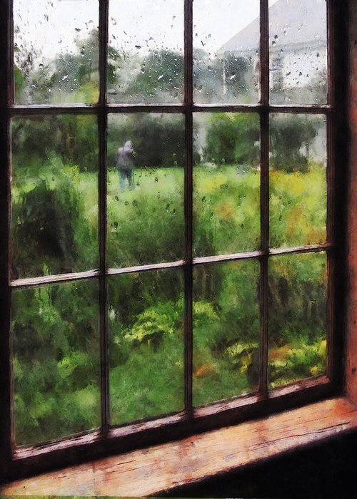 Rain Greeting Card featuring the photograph Rainy Day by Susan Savad