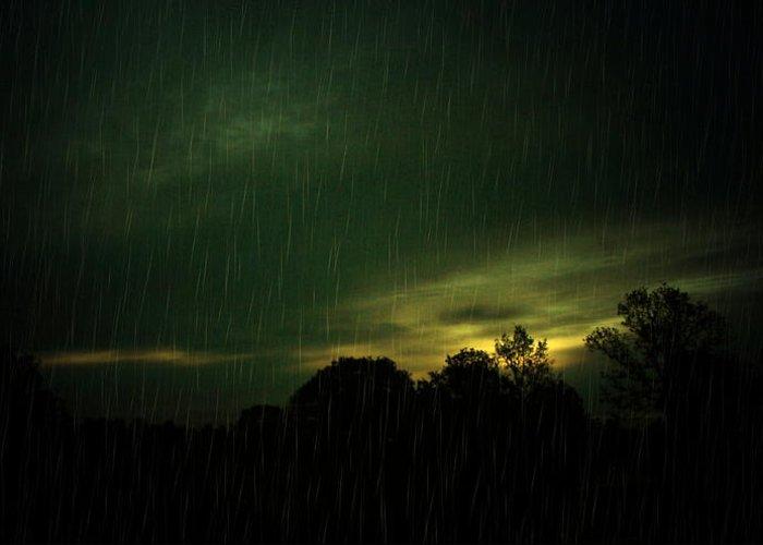 Rain Greeting Card featuring the photograph Rainy Daze by Joyce Dickens