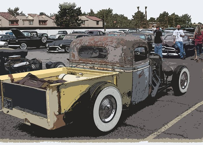 Chopped Greeting Card featuring the photograph Rat Truck by Steve McKinzie