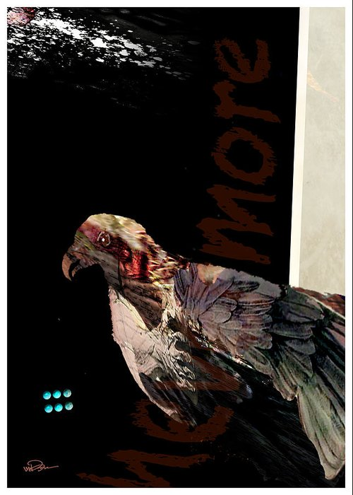 Bird Greeting Card featuring the digital art Raven 2 by James VerDoorn