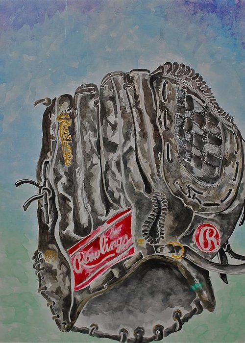 Rawlings Greeting Card featuring the painting Rbg 36 B Ken Griffey Jr. by Jame Hayes