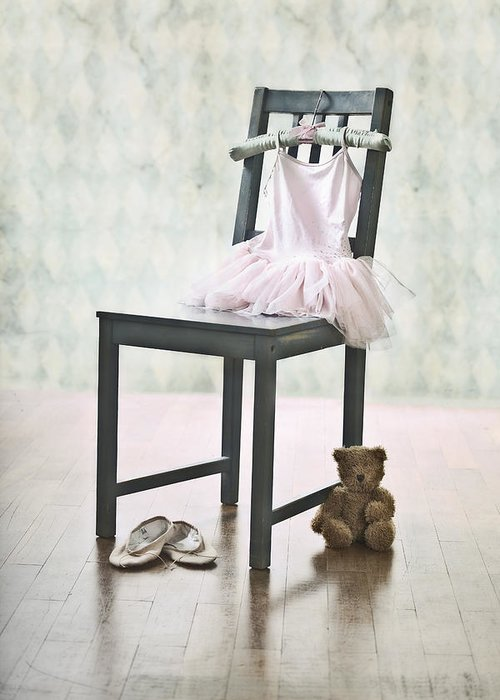 Tulle Greeting Card featuring the photograph Ready For Ballet Lessons by Joana Kruse
