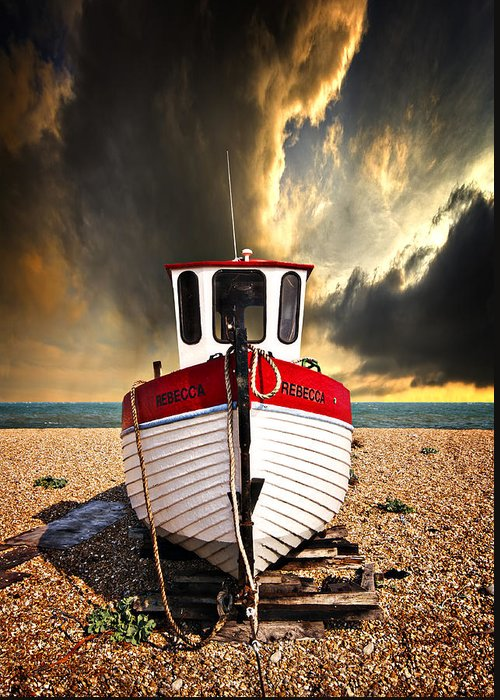 Boat Greeting Card featuring the photograph Rebecca by Meirion Matthias