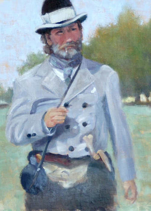 Civil War Greeting Card featuring the painting Rebel Dandy by Sandra Harris