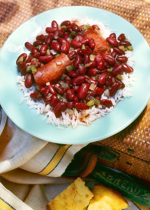Red Beans Greeting Card featuring the photograph Red Beans And Rice by Federico Arce
