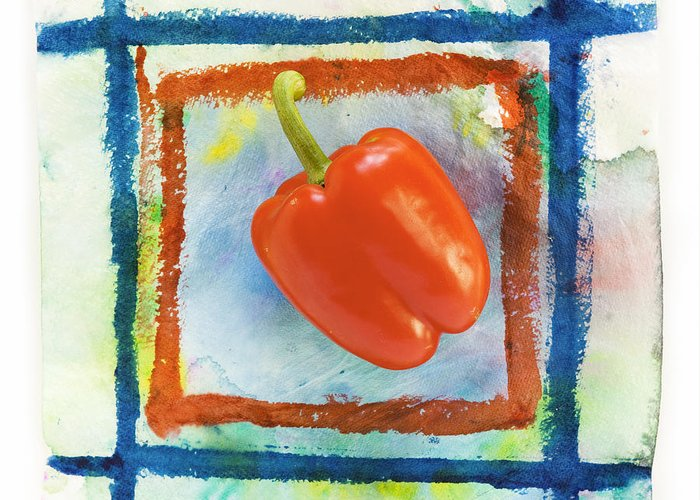Agriculture Greeting Card featuring the photograph Red Bell Pepper by Igor Kislev
