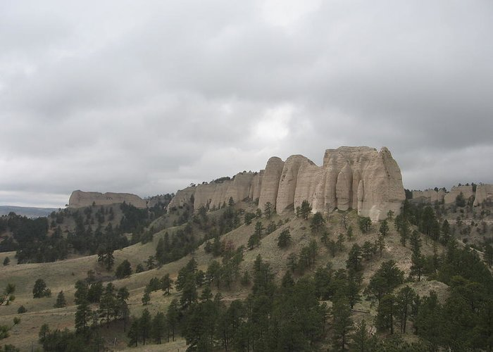 Rock Formation Greeting Card featuring the photograph Red Cloud Buttes by J W Kelly