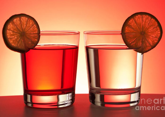 Drink Greeting Card featuring the photograph Red Drinks by Blink Images
