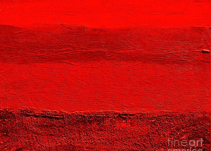 Mixed Media Greeting Card featuring the digital art Red Ll by Marsha Heiken
