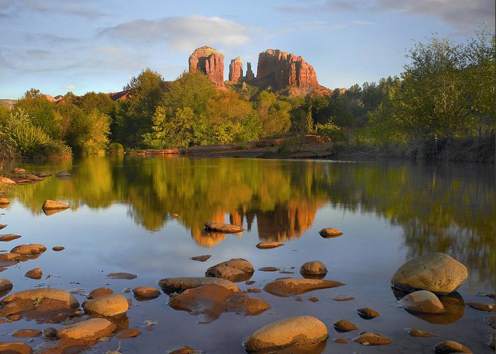 00486981 Greeting Card featuring the photograph Red Rock Crossing Arizona by Tim Fitzharris