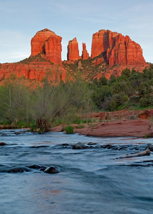Oak Creek Greeting Card featuring the photograph Red Rock Sunset by Sandy Sisti