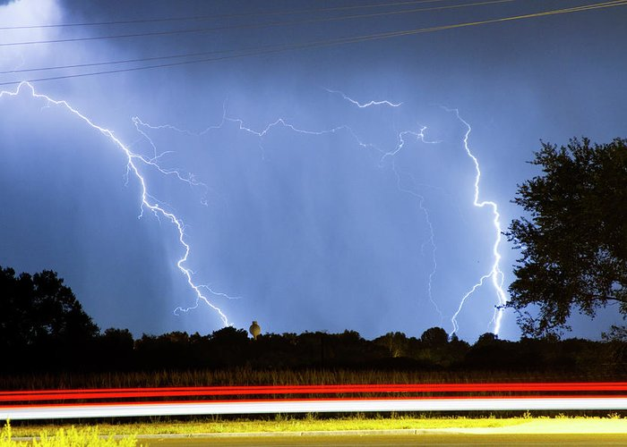Thunderstorms Greeting Card featuring the photograph Red White And Blue by James BO Insogna