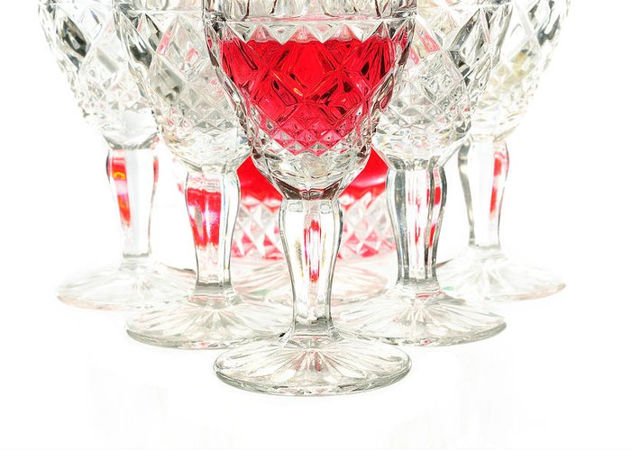 Alcohol Greeting Card featuring the photograph Red Wine Glass by Parinya Kraivuttinun