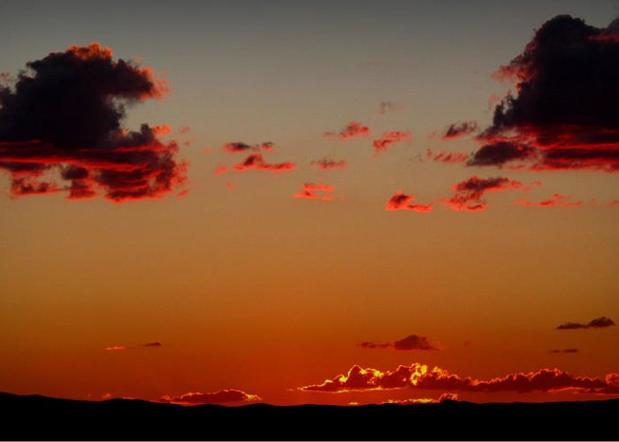 Mount Taylor Greeting Card featuring the photograph Reds Of An Autumn Sky by Aaron Burrows