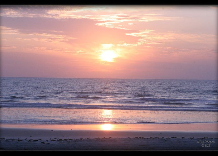 Beach Greeting Card featuring the photograph Reflected Beach Sunrise by Mike Moore