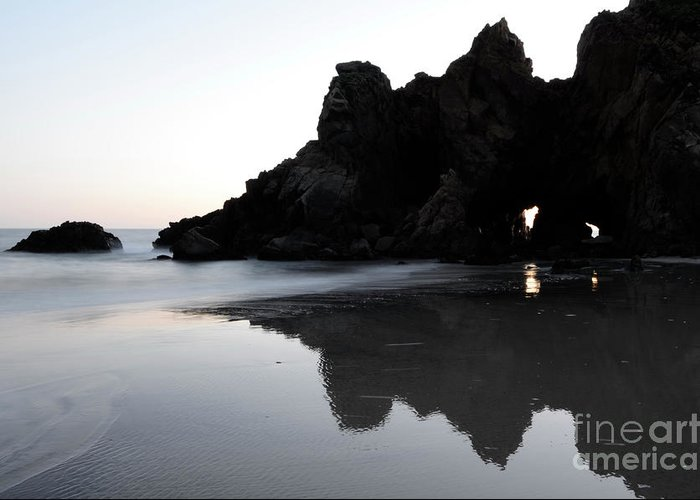 Pfeiffer Rock Greeting Card featuring the photograph Reflections Big Sur by Bob Christopher