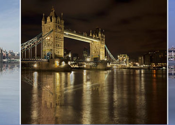 London Greeting Card featuring the photograph Reflections On The Thames by Fran Walding