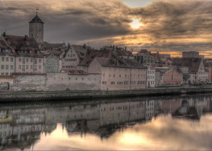 City Greeting Card featuring the photograph Regensburg Cityscape by Anthony Citro