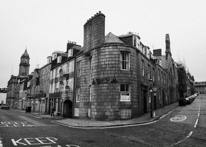 Regent Greeting Card featuring the photograph Regent Quay And Marischal Street Aberdeen Scotland Uk by Joe Fox